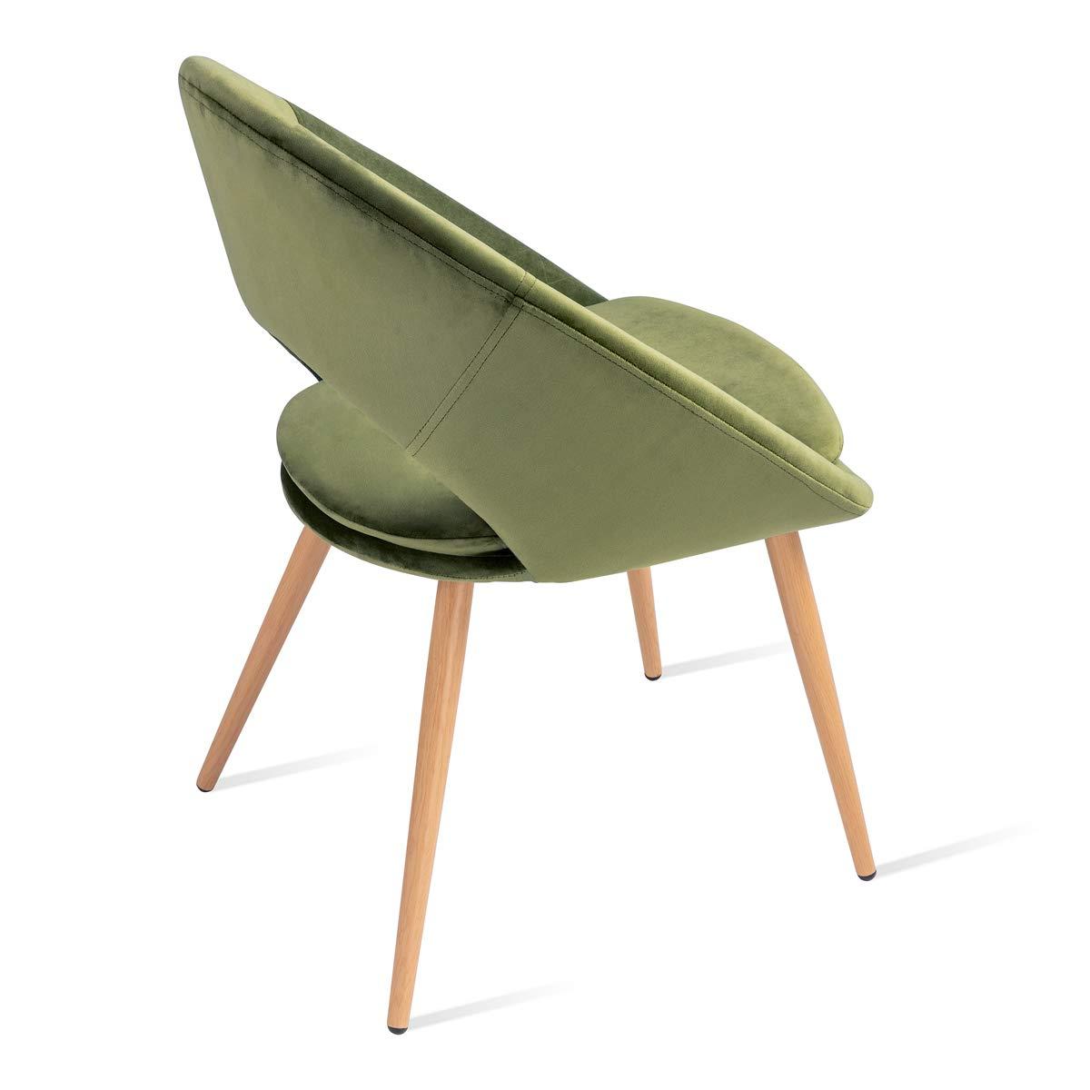 Grigio 46x43x82cm Mc Haus Pack 2 sedie Laguna nordic design  perla sala pranzo