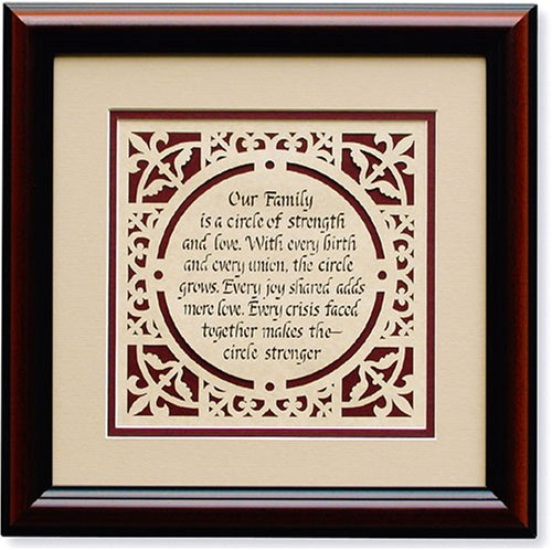 Circle of Love Silhouette Print (Strength Framed)