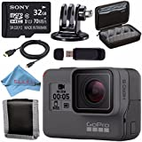 GoPro HERO5 Black CHDHX-501 + Sony 32GB microSDHC Card + Custom GoPro Case for GoPro and GoPro Accessories + Tripod Adapter For GoPro Bundle