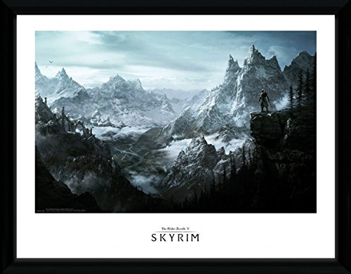 1art1 Skyrim Framed Collector Poster - Vista (16 x 12 inches) from 1art1