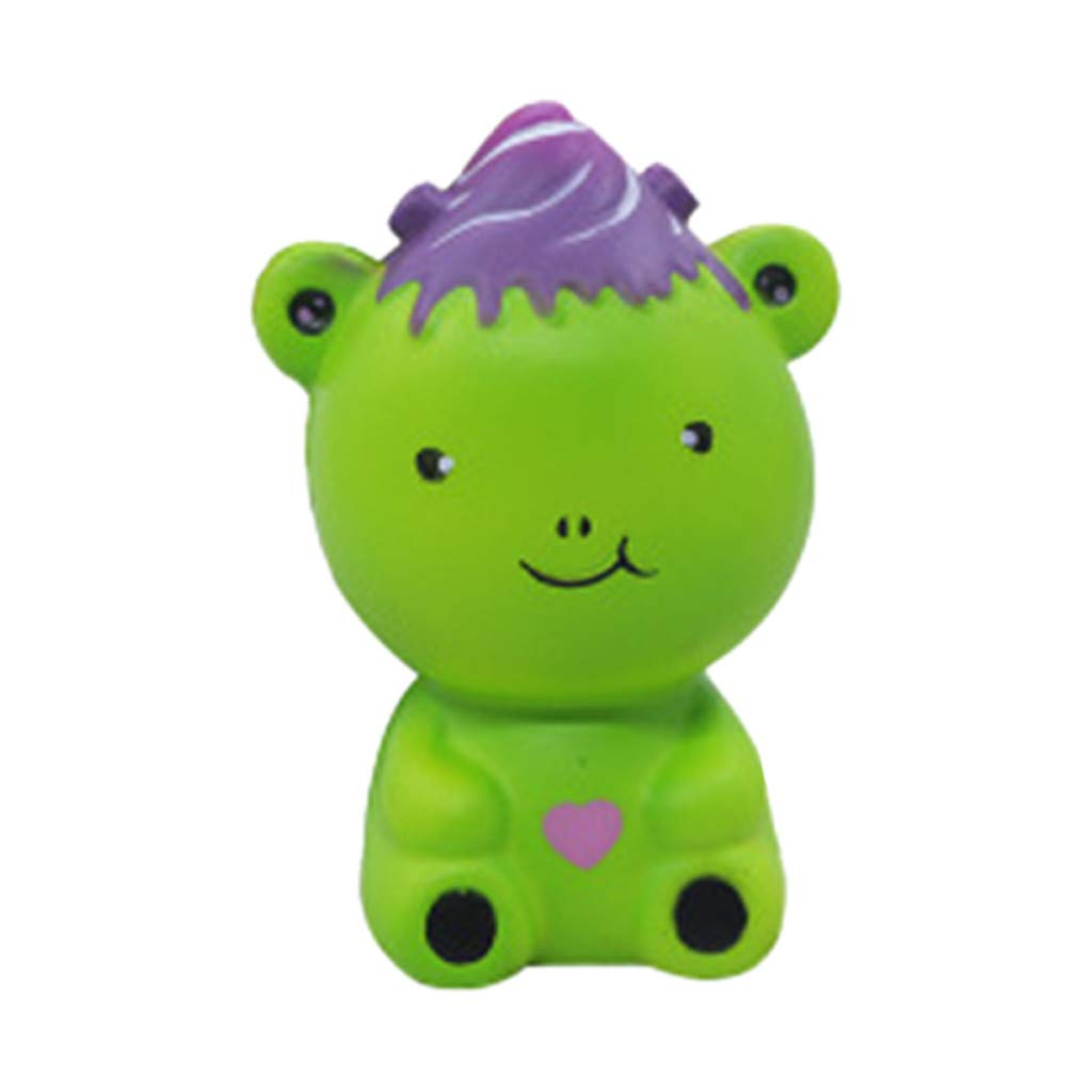 Stress Reliever Simulated Cute Bear Scented Super Slow Rising Kids Squeezable Favors for Kids Toy (Green)