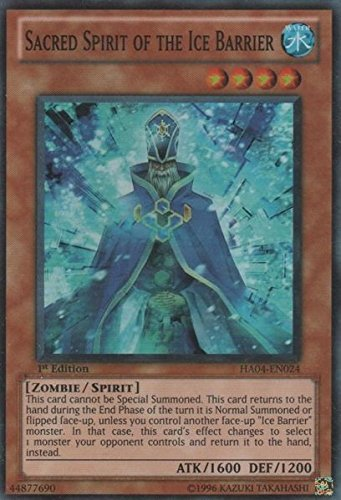 Sacred Spirit of the Ice Barrier - HA04-EN024 - Super Rare - Unlimited Edition Y ,#G14E6GE4R-GE 4-TEW6W245711