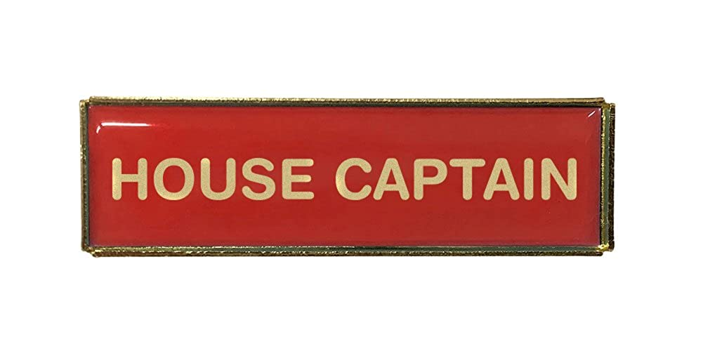 House Captain Pack of Ten Rectangle School Badges