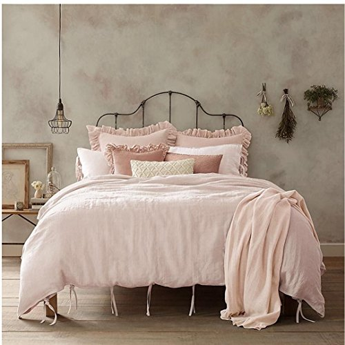 Wamsutta Vintage Washed Linen Full Queen Size Duvet Cover in