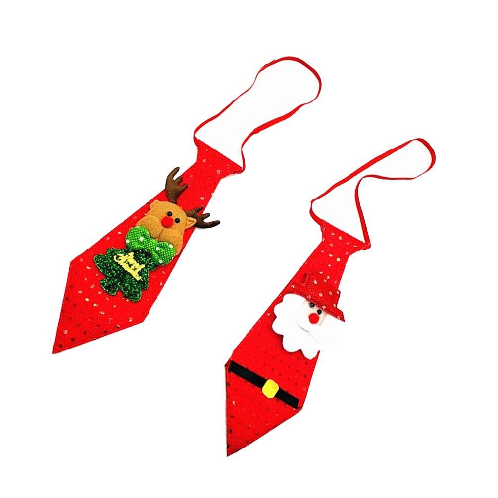 Toyvian - Corbata navideña con 2 Luces, Corbata de Papá Noel ...