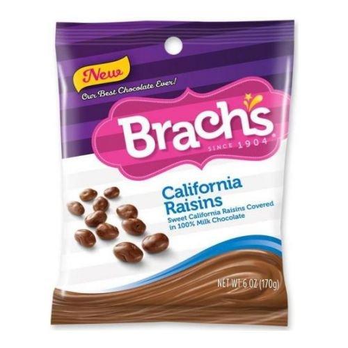 Brach's Raisins, California 6 oz (Pack of 12) California Chocolate Raisins