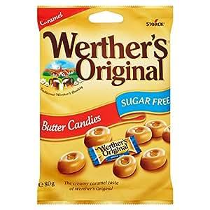 De Werther original Azúcar Mantequilla libre caramelo - 18 x Bolsa