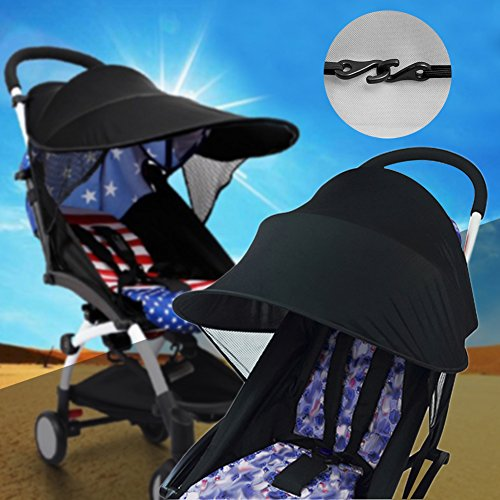 Sun Shade for Strollers WZTO Baby Car Seat Sun Shade Cover Soft, Breathable, Baby Stroller Canopy Air-Permeable and Universal Fit Strollers by WZTO (Image #2)