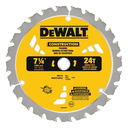 Dewalt Accessories DW3578B10 7.25-Inch 24-TPI Carbide Saw Blade - Quantity 10