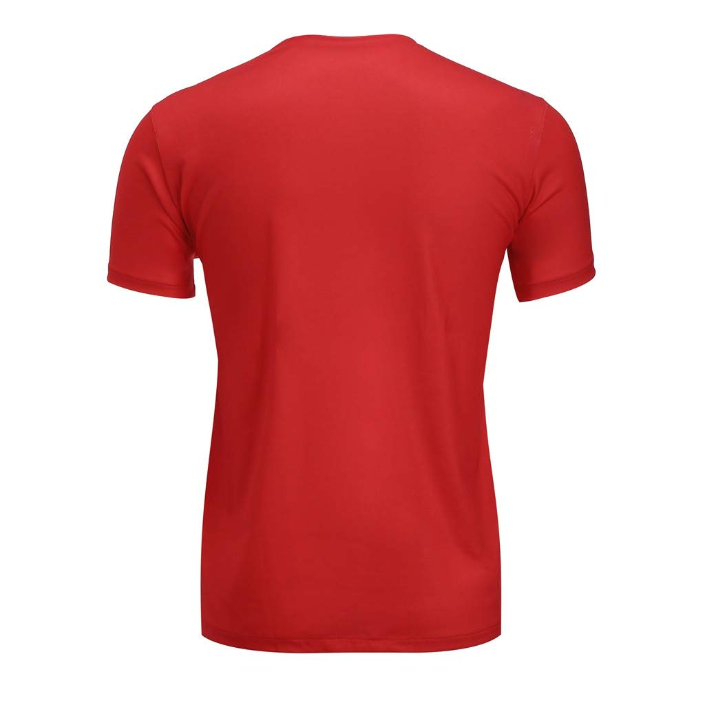 Tops Mens Short Sleeve T-Shirt Crew Neck T-Shirts Cotton Fitted Graphic Printed Casual Big and Tall Tee Shirts