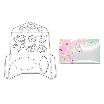 Bbl345dLlo - Plantillas de metal para manualidades, diseño de sobre, color plateado: Amazon.es: Hogar