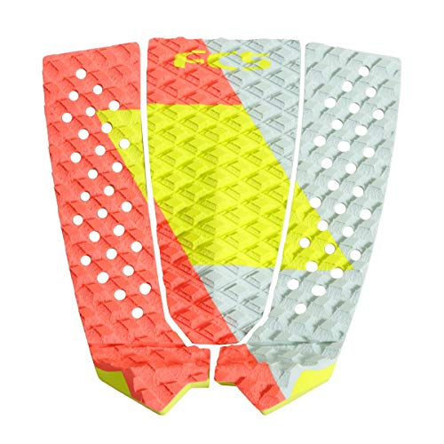 FCS Filipe Toledo Traction Pad One Size Red/Lime/ Slate