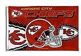 Kansas City Cheifs Helmet 2015 Flying 3×5 feet Flag