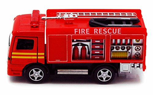 Rescue Fire Engine, Red - Kinsmart 5110D - 5