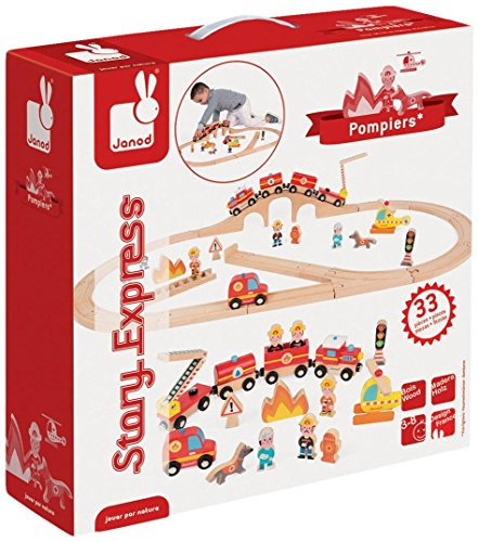 Janod - Circuit Story Express Pompiers