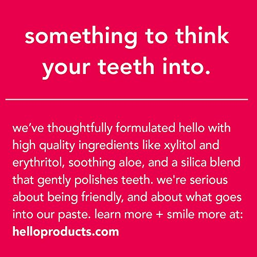 Hello Oral Care Kids Fluoride Free Toothpaste, Natural Watermelon, 4.2 Ounce