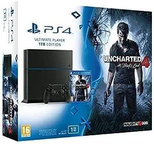 Sony PS4 1TB + Uncharted 4 Negro 1000 GB Wifi - Videoconsolas (PlayStation 4, Negro, 8192 MB, GDDR5, GDDR5, AMD Jaguar): Amazon.es: Videojuegos