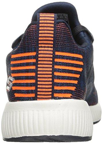 Skechers BOBS Damen BOBS Squad-Double Dare Fashion Sneaker Navy Orange
