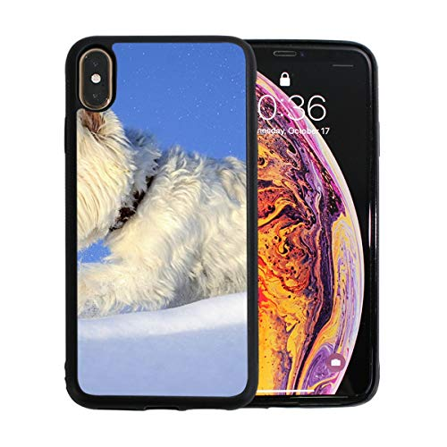iPhone Xs Max Case,Skating Dog TPU Anti Scratch Protective Cover,Compatible Cell Phone Cases,Printed Shockproof Protector