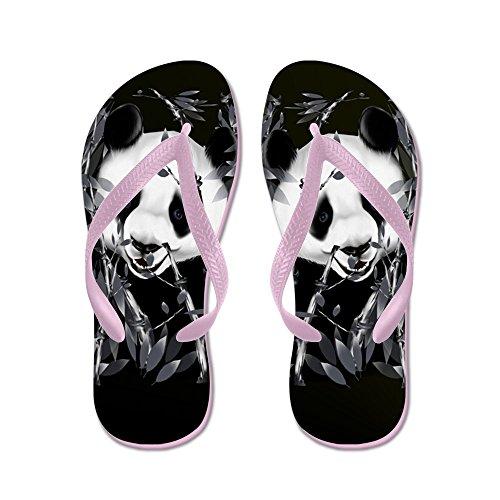 Cafepress Flip Flops-grijze Toon Panda - Flip Flops, Grappige String Sandalen, Strand Sandalen Roze