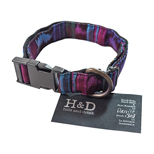 Dog Collar For Small - Medium Dogs (10 to 19 Inches) Handmade by Hide & Drink :: Tropical Blue