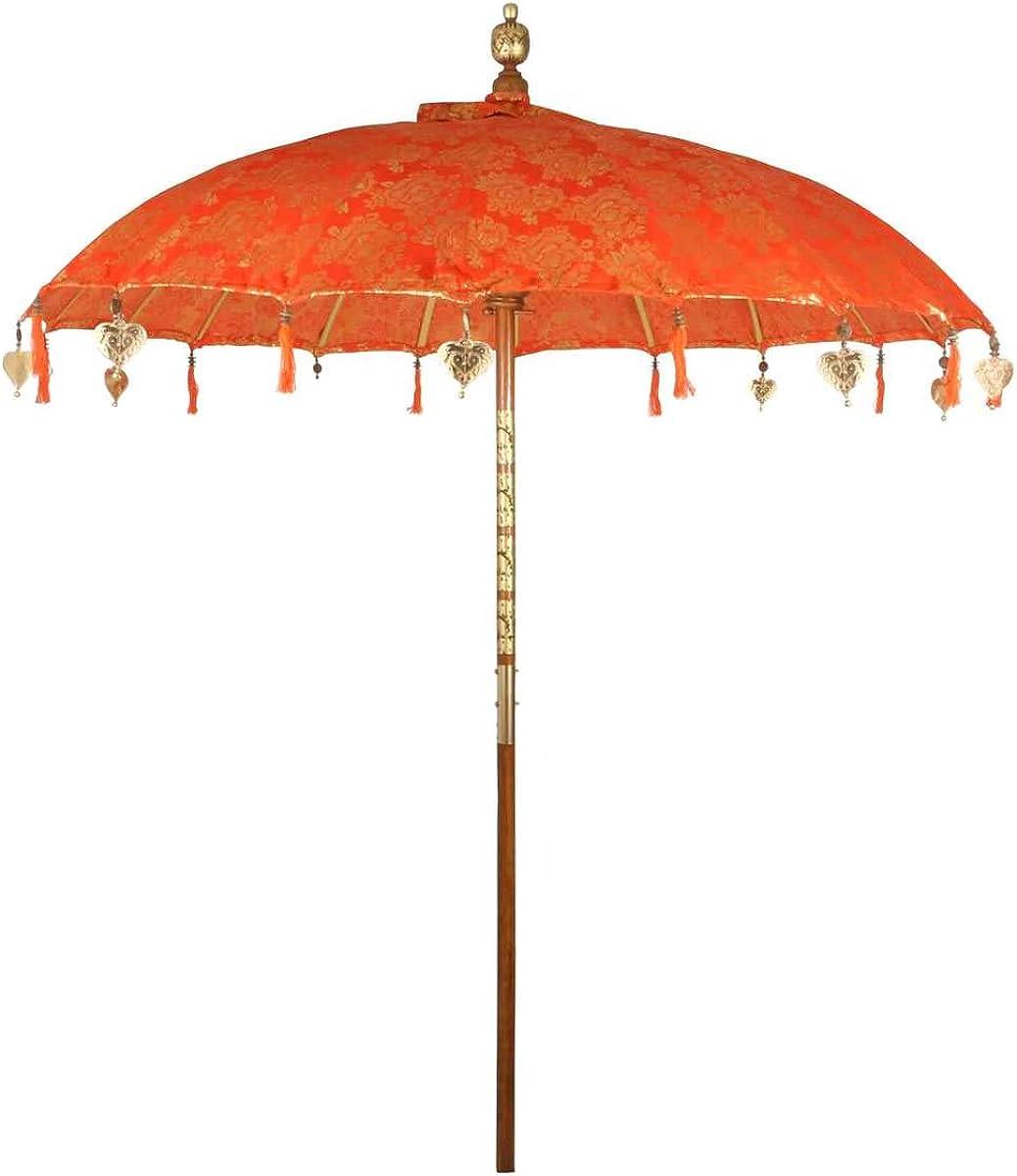 Sonnenschirm 112 Papierschirm Dekoschirm weiss Bambus Holz Bali Schirm