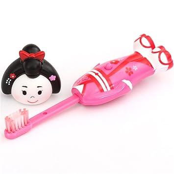 Cepillo dientes desplegable rosa niña japonesa Maiko de Prime Nakamura: Amazon.es: Juguetes y juegos