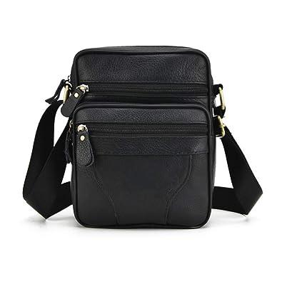 Retro Men Black Leather Shoulder Messenger Bag Satchel Cross Body Travel Handbag