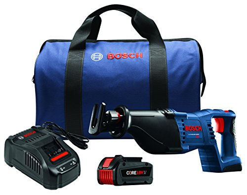 Bosch CRS180-B14 18V 1-1 8 Reciprocating Saw Kit with CORE18V Battery, Blue