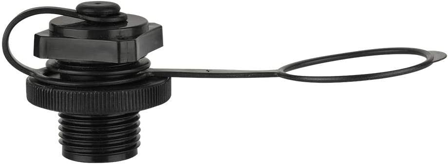 Alomejor Reemplazo del Bote Inflable de pl/ástico de la v/álvula del Tornillo de la balsa de Calibre 22.9mm Negro
