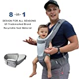 DaDa Hip Seat Baby Carrier, Airflow 360 Ergonomic Baby Carrier with hip seat for Infants and Toddler (New Generation backpack carrier ) for all seasons, perfect for nursing, hiking and traveling