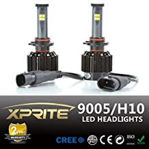 Xprite All-In-One 9005 LED Headlight Conversion Kit - 80W 7200LM Cree LED - Replaces Halogen and HID Bulbs (Original Temperature Cover Kit)