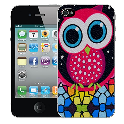 Mobile Case Mate iPhone 5s Silicone Coque couverture case cover Pare-chocs + STYLET - Red Owl pattern (SILICON)
