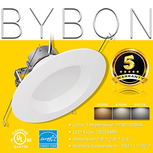 6'' Inch LED Can And Trim Combo -12W New Construction Insulation Contact IC Rated Downlight - UL and Energy Star Rated (5000 Kevin, 2 Each) by Bybon (Image #7)