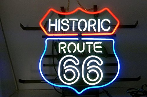 Historic Route 66 Neon Sign Display Store Beer Bar Pub Garage Man Cave Home Light Sign 20