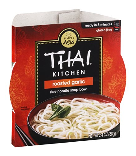 Thai Kitchen Rice Noodle Bowl, Roasted Garlic, 2.4 Ounce (Pack of (Thai Kitchen Bowl)