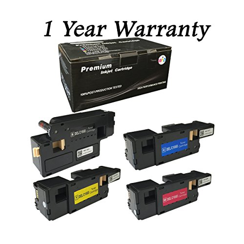 WIND 4 Pack 1660 Toner Cartridges For Dell Color Leaser C1660 C1660w C1660dn C1660cnw C1660dnw Printer