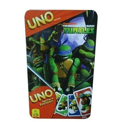 Amazon.com: Juego en caja de lata de tarjeta uno: TMNT ...