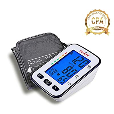 Automatic Blood Pressure Monitor, Upper Arm, Extra Large Digital Screen, Easy to Use, Standard and Large Universal Arm Cuff, Batteries Included, SEJOY BSP-13 Series ...