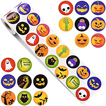 photo relating to Halloween Stickers Printable identify : Outus 720 Parts Halloween Stickers Fastened