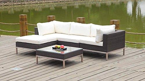 talfa polyrattan gartenm bel set nizza anthra g nstig kaufen. Black Bedroom Furniture Sets. Home Design Ideas