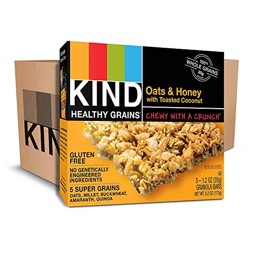 KIND Healthy Grains Bars, Oats & Honey with Toasted Coconut, Non GMO, Gluten Free, 1.2 oz, (90 Bars) by KIND (Image #1)