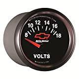 Auto Meter 3692-00406 GM Performance Parts Red 2-1/16'' 8-18 Volts Short Sweep Electric Voltmeter Gauge