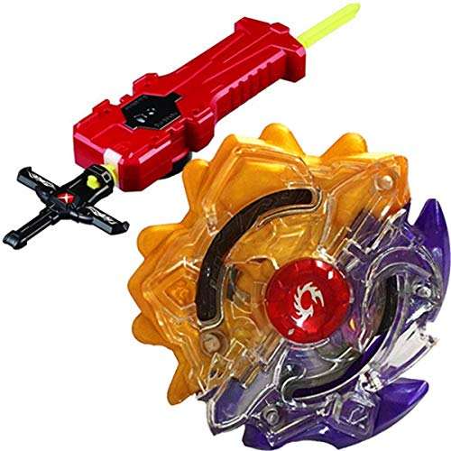 urst Blade Evolution Bey Battle Booster Starter Gyro Bay Launcher Grip B-00 Limited Duo Eclipse Sun Moon God 7S.U Game Toy Bey Set Battling Top Novelty Spinning Toy Gift for Boys ()