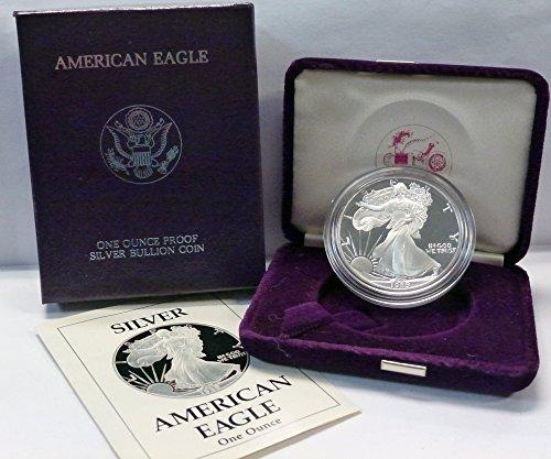 - 1989 S American 1 oz. Silver Eagle Dollar Proof US Mint