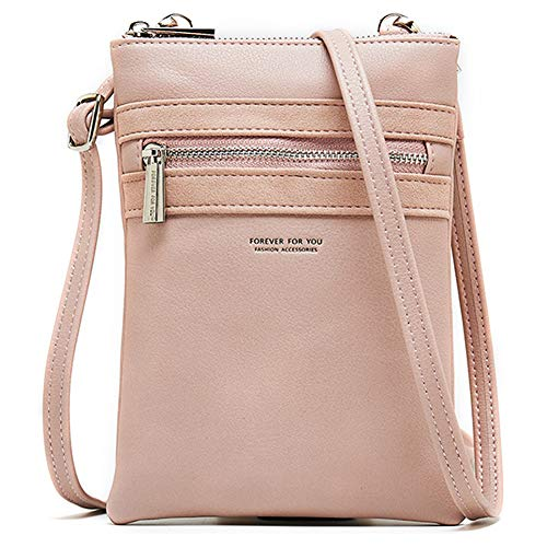Women PU Leather Crossbody Cellphone Shoulder Bag Lightweight Purses and Handbags