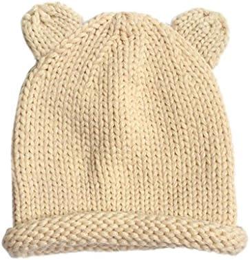 LuCoOクリスマスファッションソフトComforableかわいい冬ベビーキッズガールズボーイズ暖かいウールキャップ帽子