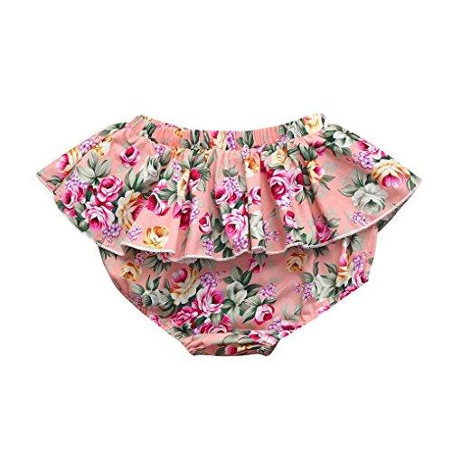 - Lurryly Toddler Baby Girls Cute Ruffles Panties Plaid Shorts Pants Children Leggings 0-3T (Size:3M, Label Size:70, Multicolor)