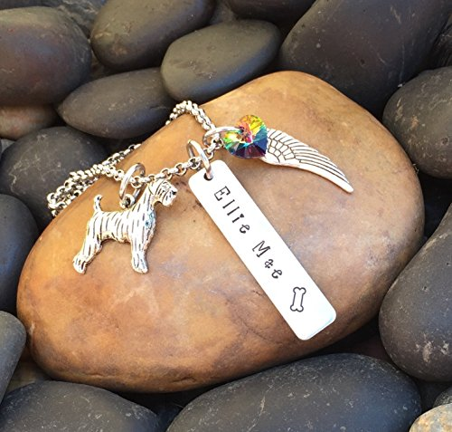 Airedale Terrier Necklace | Airedale Jewelry | Pet Memorial Necklace | Pet Memorial Jewelry | Rainbow Bridge Jewelry | Pet Sympathy Gift