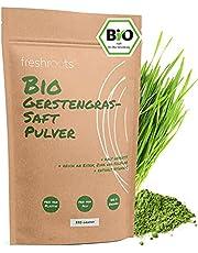 freshroots® 250 g gerstgrassappoeder Bio, 100% gerstengras-sap poeder, vrij van toevoegingen, voor smoothies en sappen
